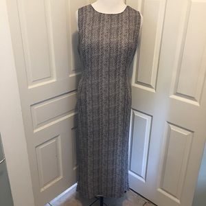 Vintage Silk Snakeskin Print Maxi Dress